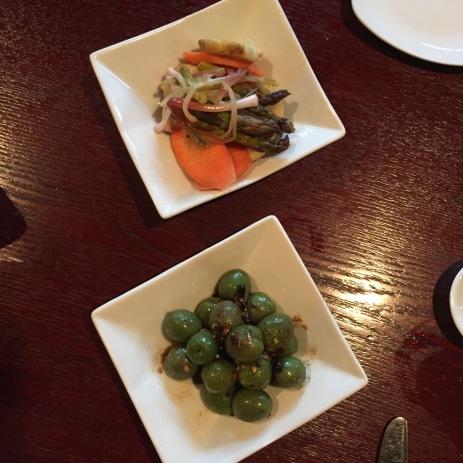 Pickled Local Veg & Marinated Castelvetrano Olives: